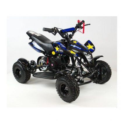 Детский квадроцикл бензиновый MOTAX ATV H4 mini-50 cc Черно- синий (до 45 км/ч)