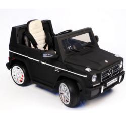 Электромобиль Mercedes-Benz G65 LS-528 черный матовый (колеса резина, кресло кожа, пульт, музыка)