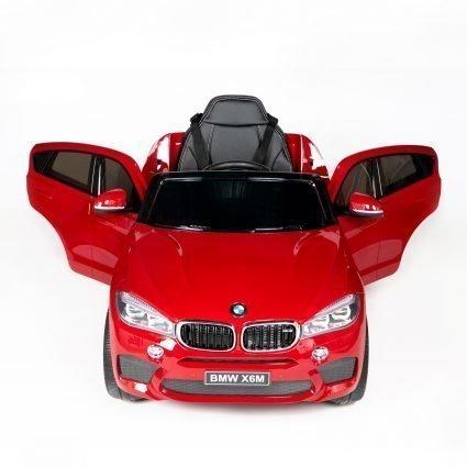 Электромобиль BMW X6M Mini JJ2199 красный (колеса резина, кресло кожа, пульт, музыка)